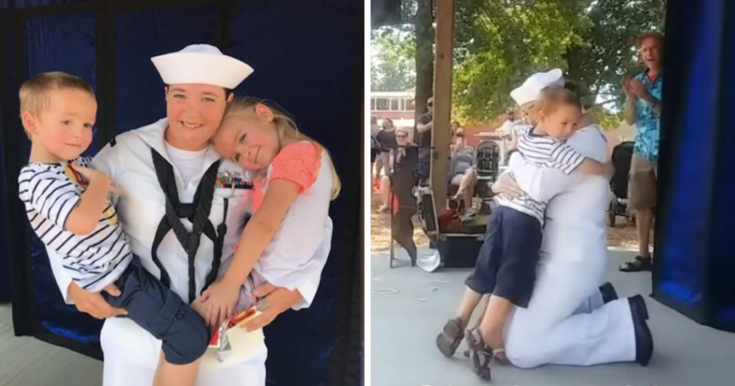Magician Tells Group Of Kids To Make A Wish, Then Military Mom Suddenly Appears Onstage