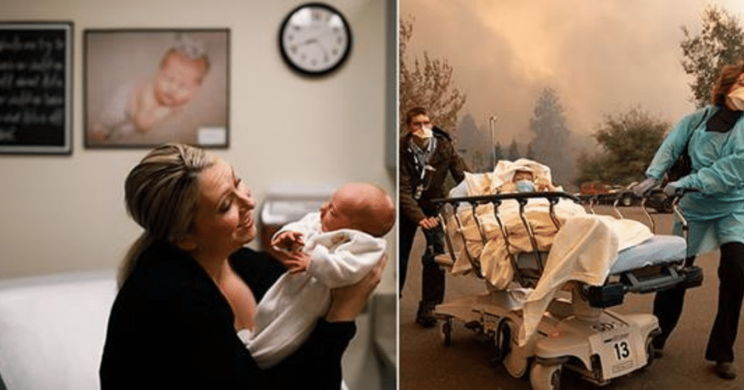 New Mom Tells Stranger To Take Baby And Leave Her Behind As Flames Grew Closer