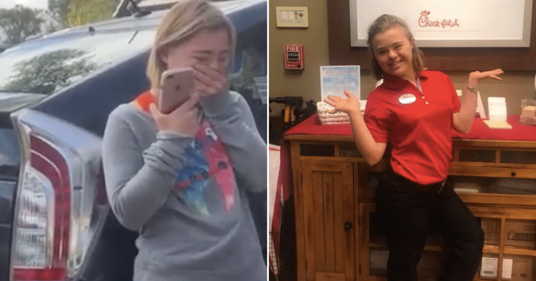 Teen With Down Syndrome Loses It When Chick-fil-A Calls To Tell Her 'You're Hired'