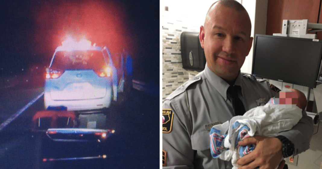 Cop Pulls Over Speeding Car, Moments Later He's Helping Deliver Baby On Side Of Road