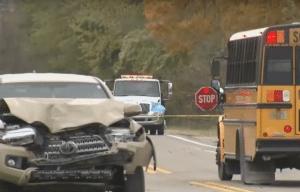 The scene of the crash via YouTube