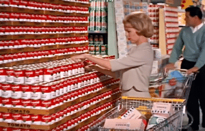 Campbell's Soup cans in vintage ad via YouTube
