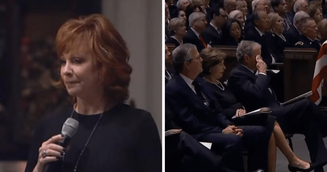 Watch As Reba Brings Bush Family To Tears While Singing 'The Lord's Prayer' At George H.W.'s Funeral