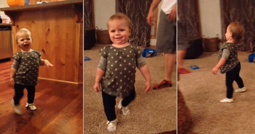 Toddler Gives Hilarious Response When Pregnant Mom Asks, 'How Does Momma Walk?'