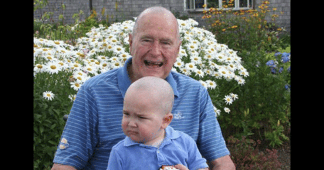 George H.W. Bush Once Shaved His Head In Support Of Age 2 Boy With Leukemia