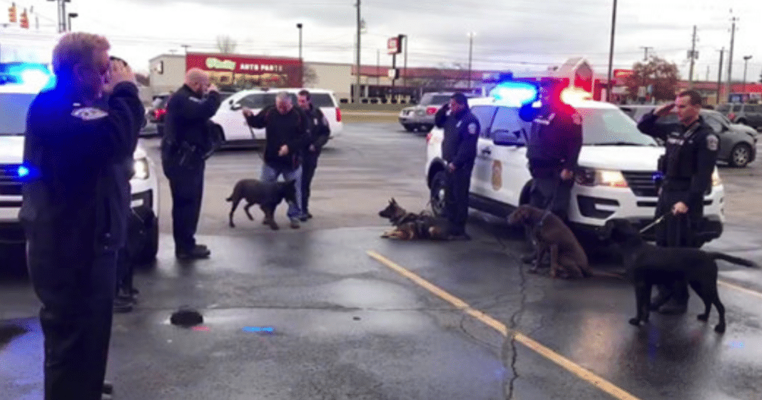 Hear the heartbreaking final call for K9 officer entering clinic after a long battle with cancer