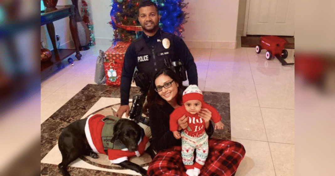 Cop Poses For Beautiful Christmas Photo With His Family, No One Knew It Would Be Their Last