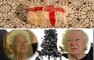 Donna and Charlotte exchange fruitcake each year, The Cloquet Cake War