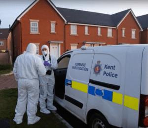 Scene of the alleged double murder in Margate, UK