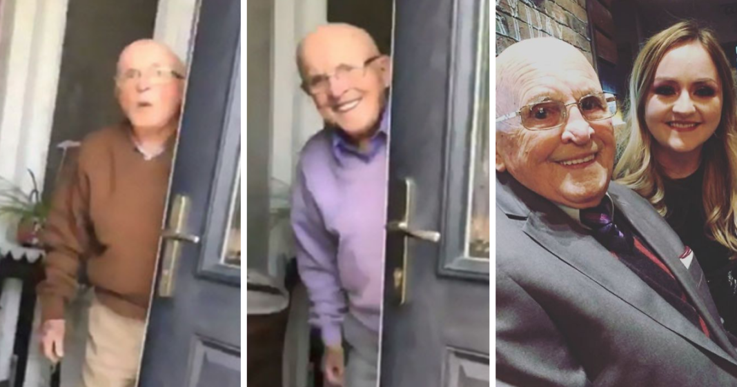 The way this 87-yr-old grandpa reacts every time he sees his granddaughter is the best thing you'll see today