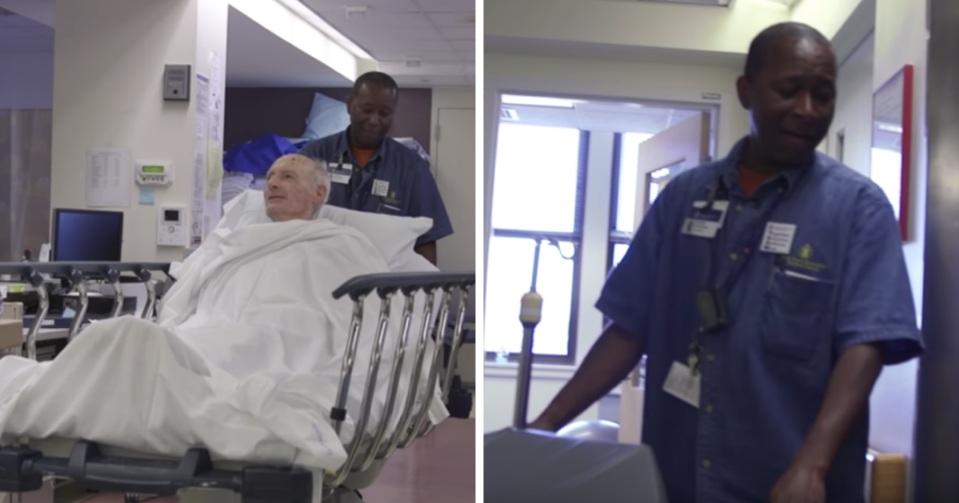 He transfers patients to their rooms, gets caught on camera – now the footage goes viral