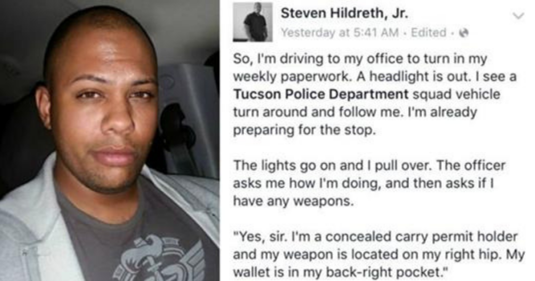 Man gets stopped by cops and his Facebook post about it goes viral