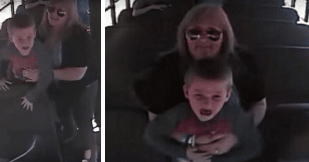 Bus cam captures driver grabbing terrified age 5 boy – children watch helplessly as time runs out
