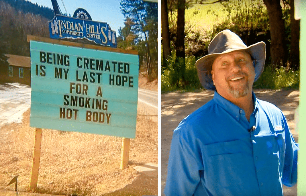 Man Creates Hilarious Signs, Leaves His Entire Community In Stitches