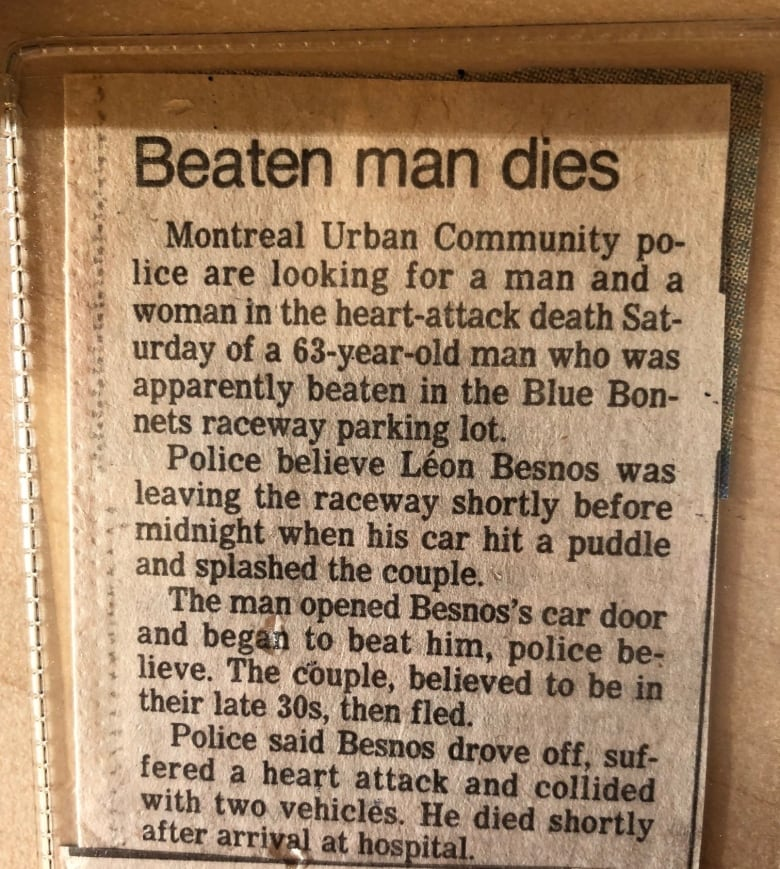newspaper clipping from 1986f from CBC Go Public