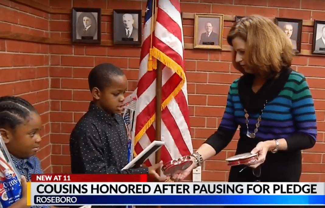 The kids are recognized for their patriotism