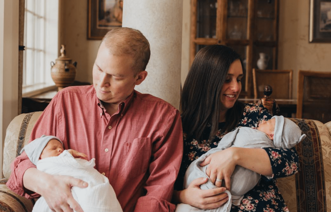 Father with cancer fights long enough to see birth of his twin boys and hold them before dying
