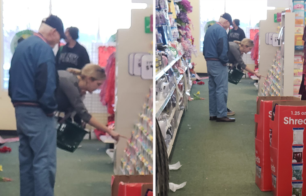 Woman snaps picture of 85-year-old at Dollar Tree after overhearing the stranger's heartbreaking story