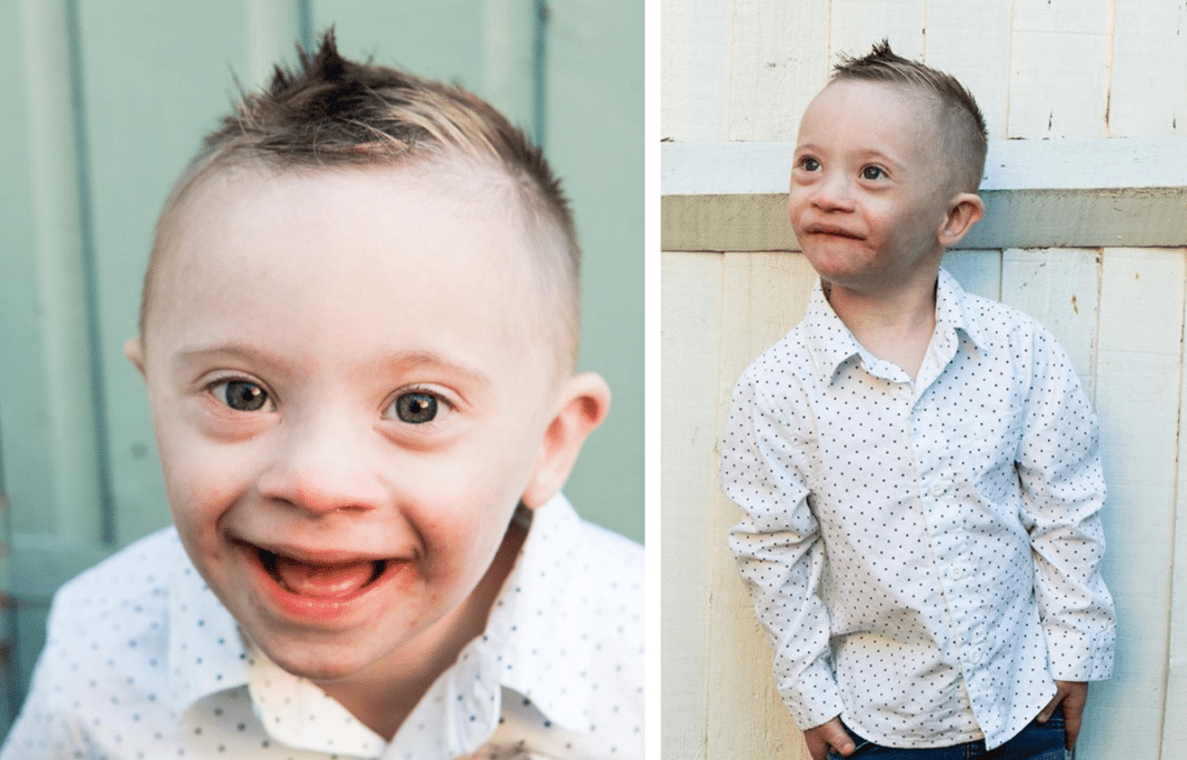 Four-year-old boy with Down syndrome named 'Smiley Riley' lands modeling contract