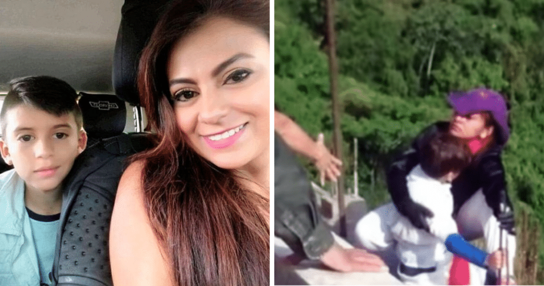 Young mom leaps from bridge to her death while holding onto her 10-year-old son