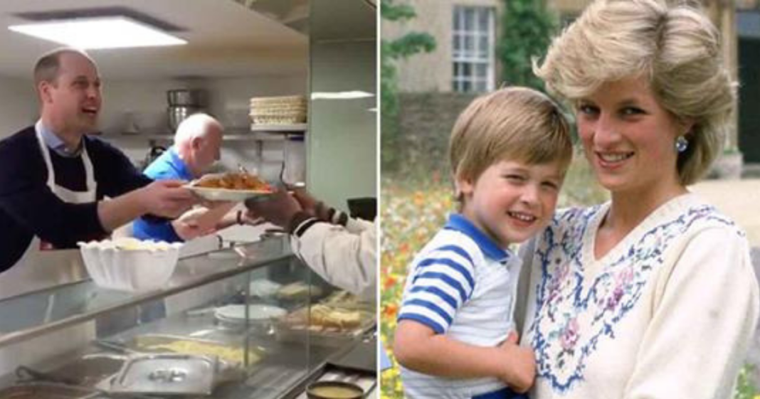 Prince William serves food to homeless 26 years after mom Princess Diana showed him how