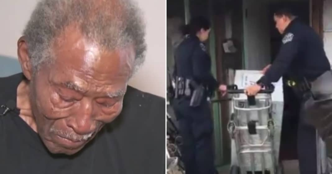 92-year-old calls 911 on thief. Cops report to scene and can't ignore distressing sight in his home