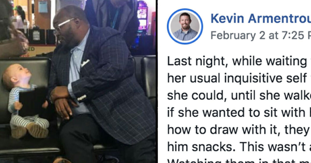 Stranger makes friends with toddler at airport, dad responds with powerful post that goes viral
