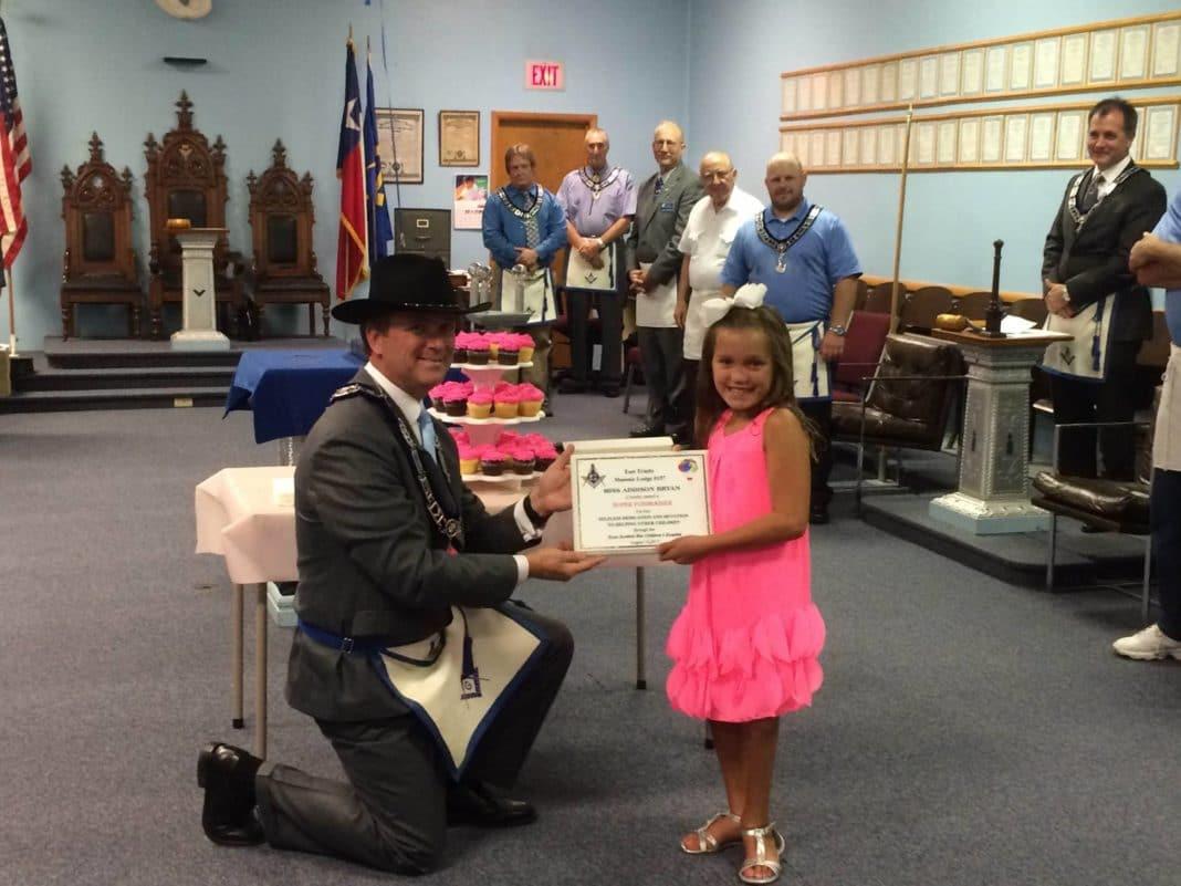 Celebration for Addie at the Masonic Lodge