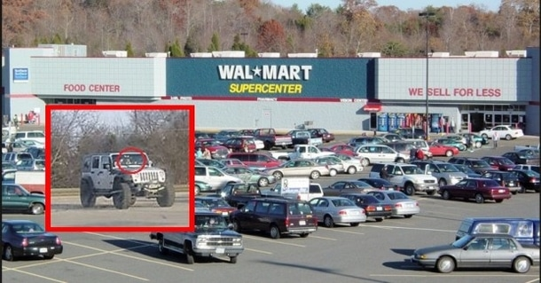 The Walmart where Jake Holloway spotted the Jeep via LoveThisPic