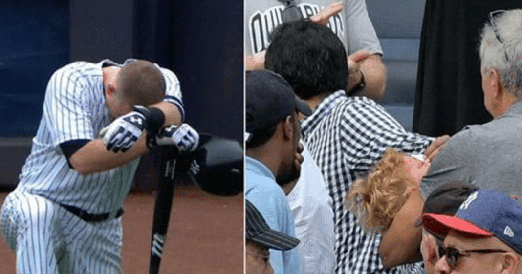 Baseball players hit a little girl with 105 mph foul ball – stop their game to weep on the field