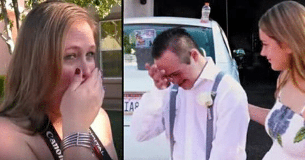 Teen with Down syndrome is rejected before school dance, then date shows up and mom totally loses it