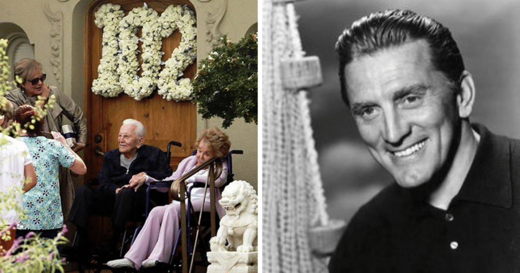 Kirk Douglas celebrates 102nd birthday with beloved wife Anne Buydens, 99, by his side