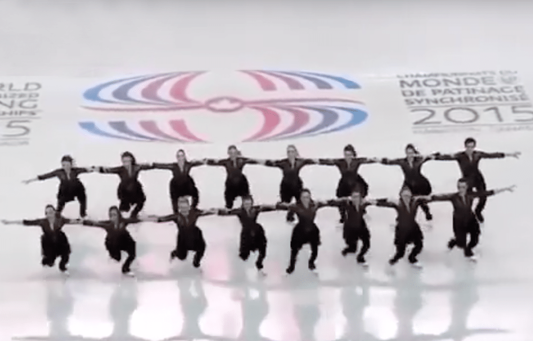Skaters come to a standstill on ice – only to move their feet and have everyone lose it