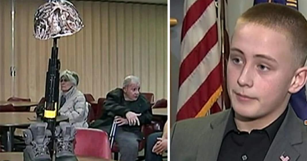 Principal suspends middler schooler after he sees the veterans memorial student created