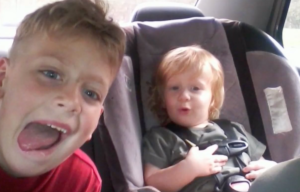 Dilynn Creel, age 8, and Jace Creel, age 3