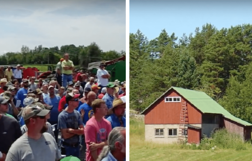 Farmers refuse to place a bid at auction so young man can buy back his family's farm
