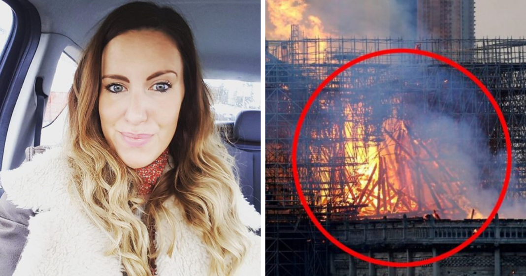 Woman shares picture after she spots Jesus in the flames of Notre Dame Cathedral