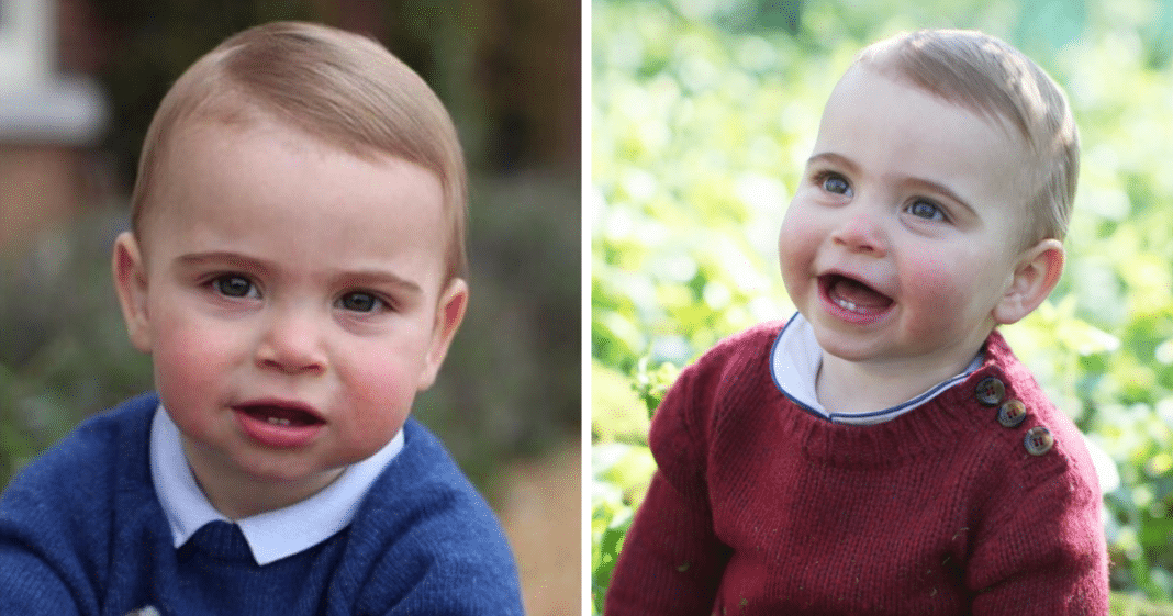 1-year-old Prince Louis proudly shows off his first two set of teeth in adorable new birthday photos