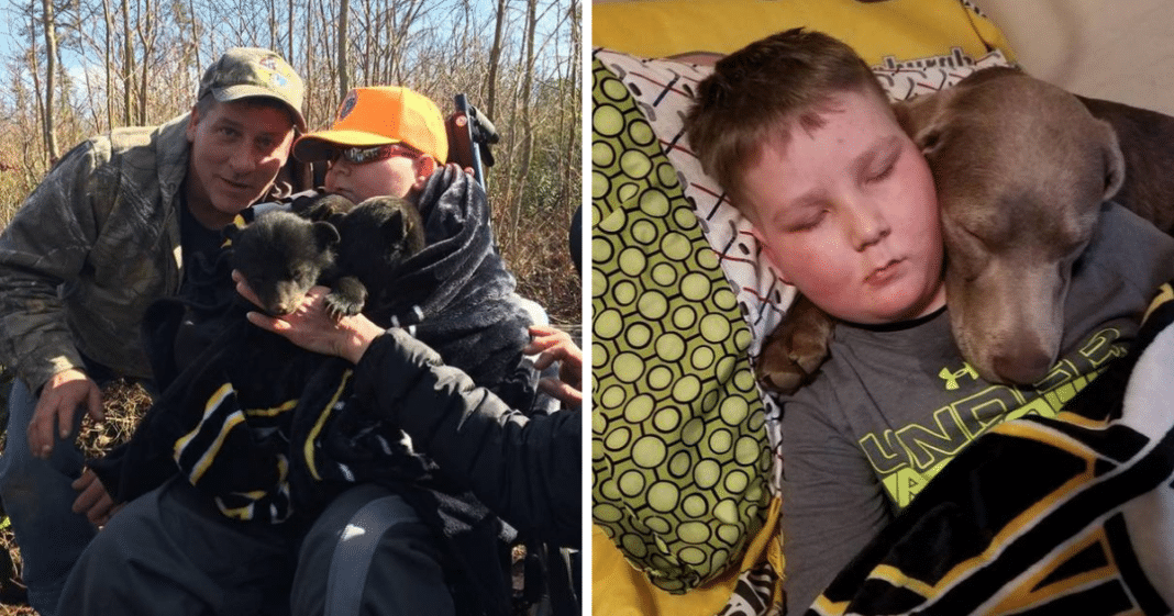 Dying boy with terminal cancer says 'dad I gotta quit' – dad makes him a promise as he chokes back tears