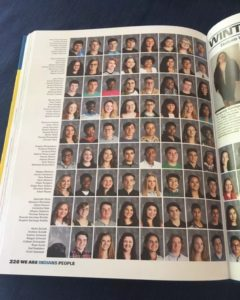 The full yearbook page featuring Alpha and AJ