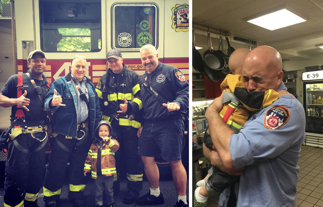 Terminally ill toddler who loved firefighters meets his heroes just hours before passing away
