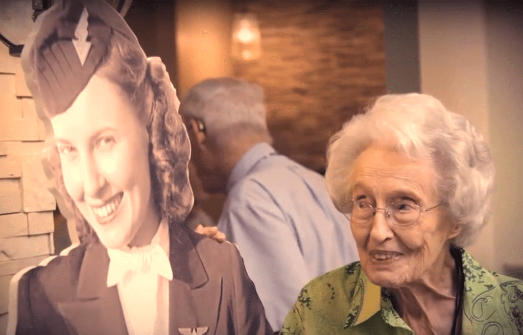 Birthday celebration for one of the first Delta flight attendants as she turns 103-years-old!