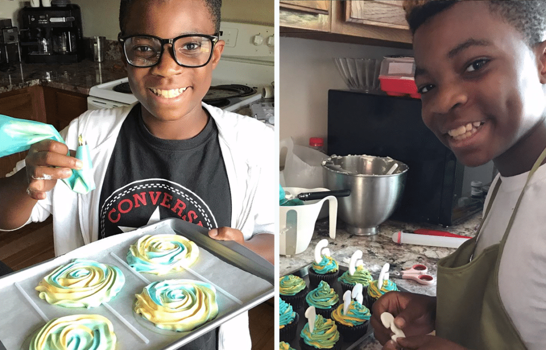 13-year-old opens a bakery. For every cupcake he sells, he gives one to the homeless