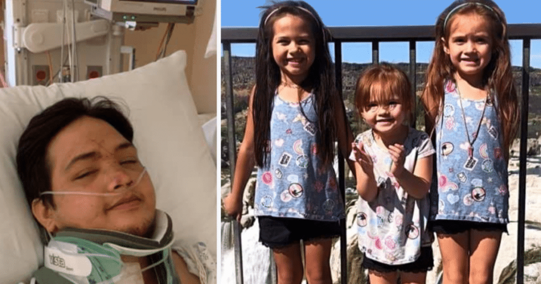Dad wakes up paralyzed from horror crash to find out his 3 daughters have died – he needs prayers