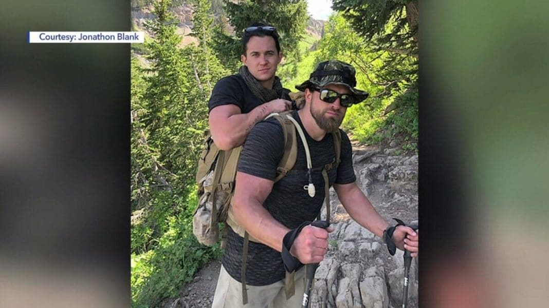 Loyal Veteran Carries Fellow Marine And Best Friend Who Had Legs Blown Off In Afghanistan Up Mountain
