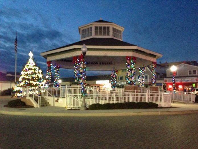 The Rehoboth Beach Bandstand at Christmas
