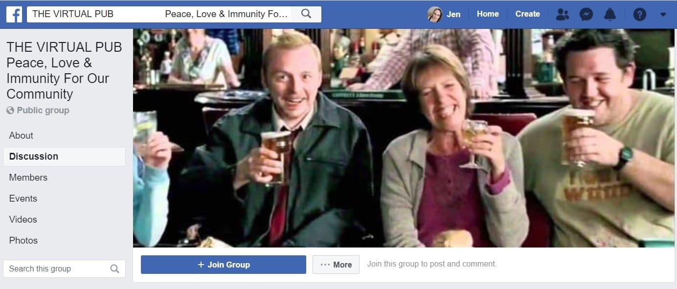 Virtual Pub facebook page Banner