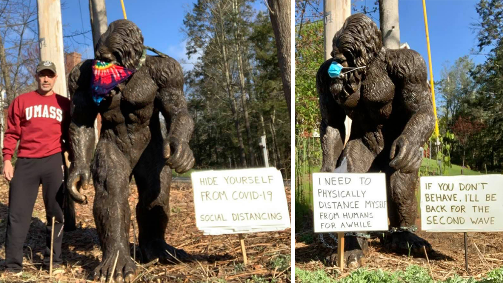 'Brimfield Bigfoot' Helps Community Get Through Covid-19 Isolation