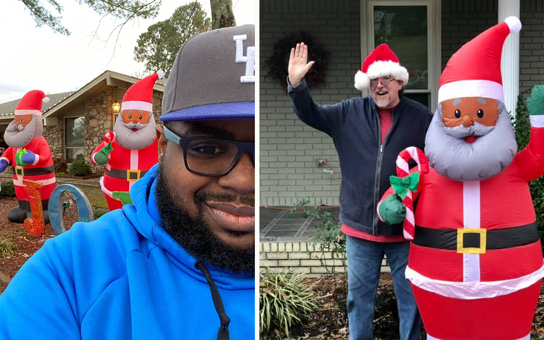 Neighbors Display Black Santas in Support of Family After Racist Note