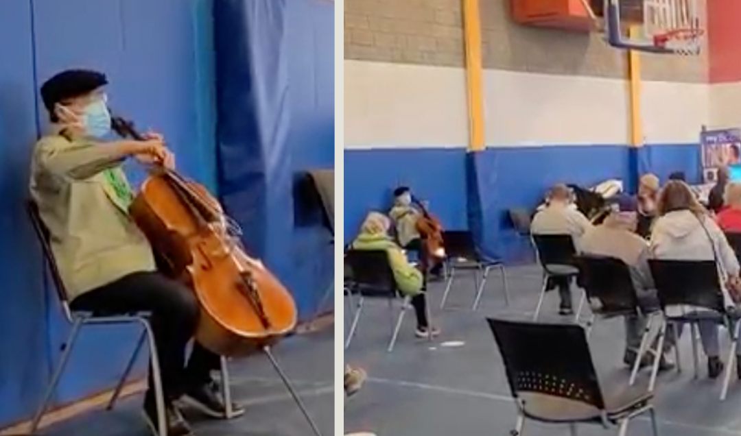 Yo-Yo Ma Holds Surprise Concert While People Receive COVID-19 Shots